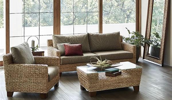 アジアンテイストのソファー