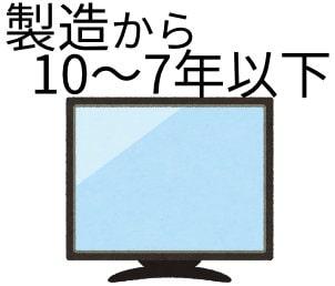 売るテレビは製造から10年、7年までが基準