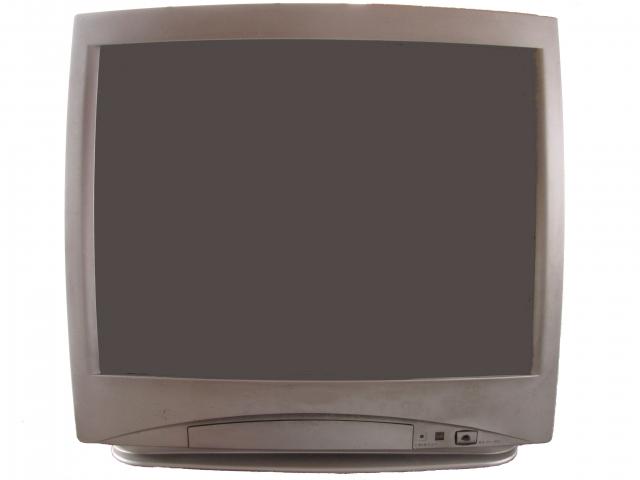 中古のブラウン管テレビの画像